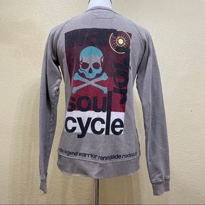 SoulCycle Gray Graphic Sweatshirt Size Small